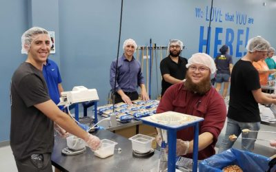 LEAPS team volunteers at Feed My Starving Children